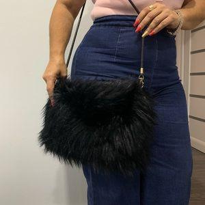 Handbags - Faux Fur Purse/CrossBody Bag